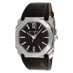 Bvlgari Octo Black Dial Automatic Men's Date BGO41S Wrist Watch 90054035