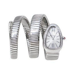 Bvlgari Opaline Guilloché Soleil Serpenti Tubogas Women's Wristwatch 35 mm