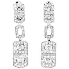 Bvlgari Parentesi 18 Karat White Gold, 2.50 Carat Diamond Earrings