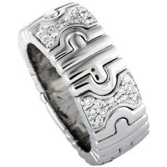Bvlgari Parentesi 18 Karat White Gold Diamond Band Ring