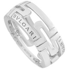 Bvlgari Parentesi 18 Karat White Gold Open-Work Ring