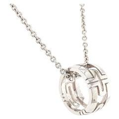 Bvlgari Parentesi 18 Karat White Gold Pendant Necklace