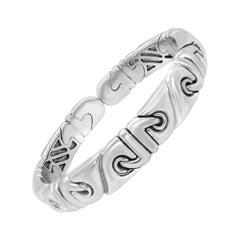 Bvlgari Parentesi Cuff 18 Karat White Gold Bracelet
