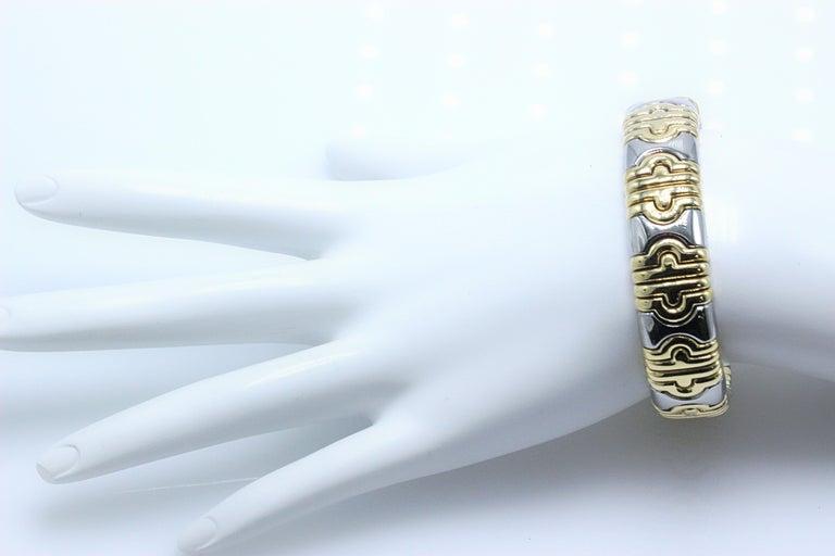Bulgari Parentesi Cuff 15mm Gold Bracelet  For Sale 6