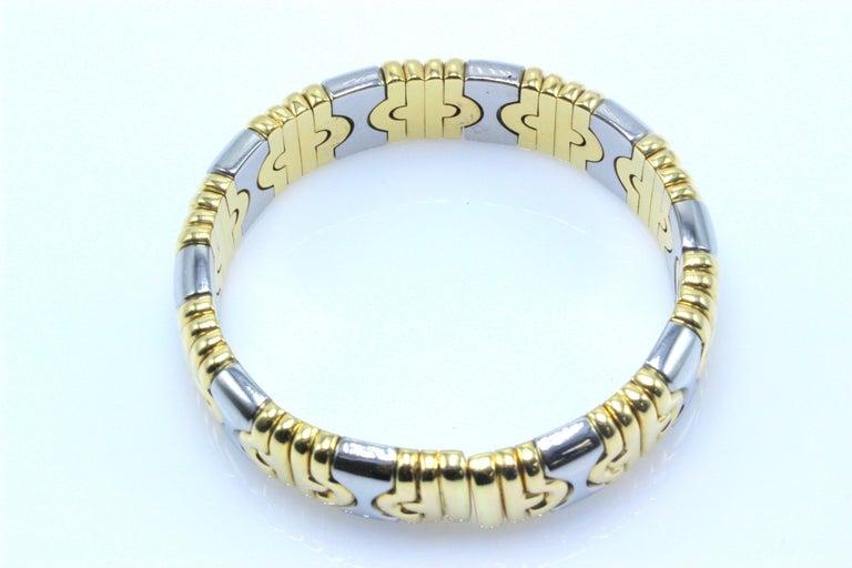 Women's Bulgari Parentesi Cuff 15mm Gold Bracelet  For Sale