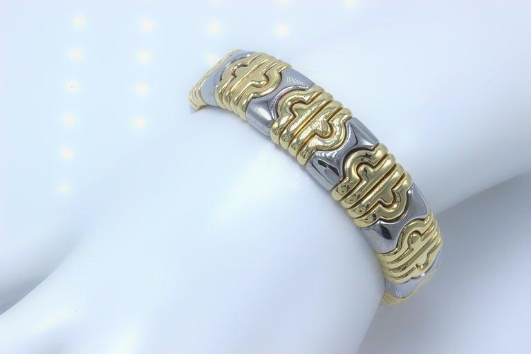 Bulgari Parentesi Cuff 15mm Gold Bracelet  For Sale 1