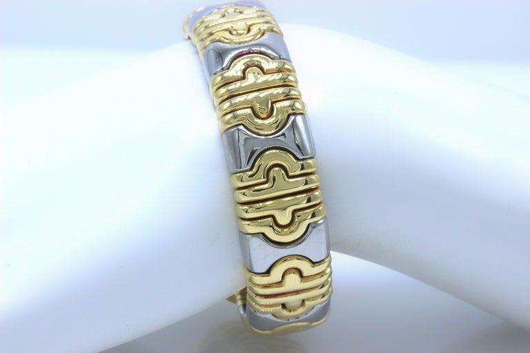 Bulgari Parentesi Cuff 15mm Gold Bracelet  For Sale 3