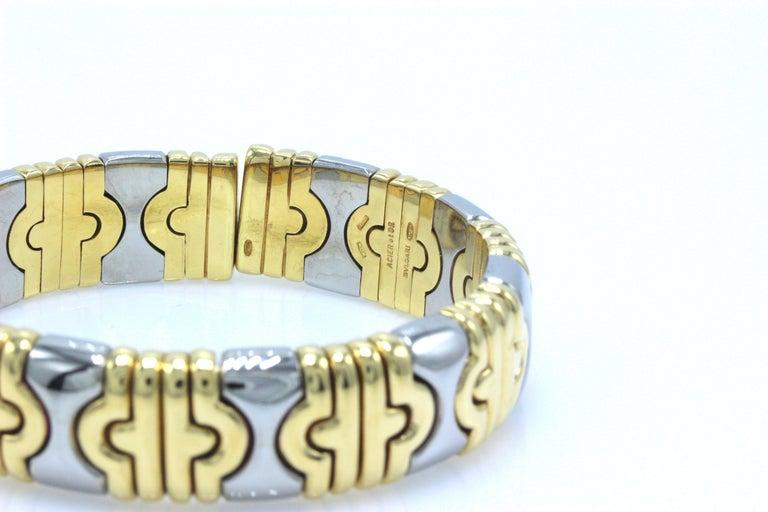 Bulgari Parentesi Cuff 15mm Gold Bracelet  For Sale 5