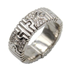 Bvlgari Parentesi Diamond White Gold Band Ring
