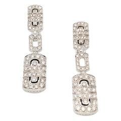 Bvlgari 'Parentesi' Gold and Diamond Earrings