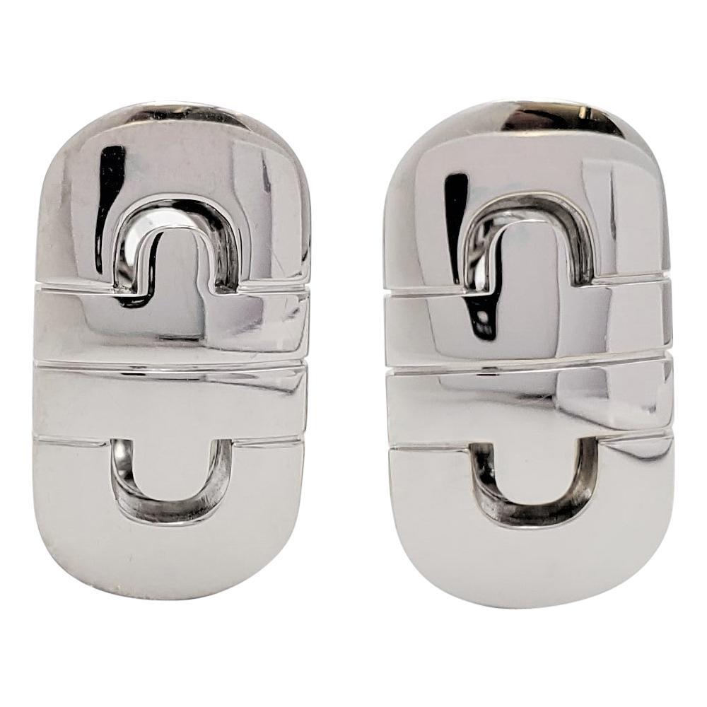 Bvlgari 'Parentesi' White Gold Earrings