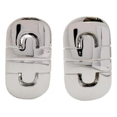 Bvlgari 'Parentesi' White Gold Earrings