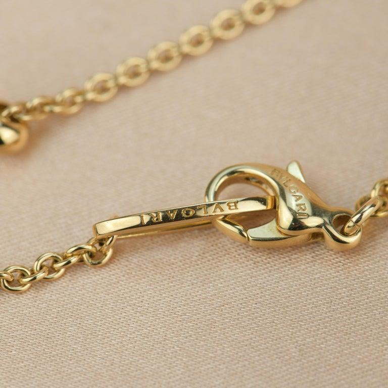 Bvlgari Peridot Diamond 18K Gold Pendant Necklace For Sale 6