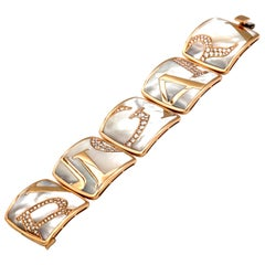 Bvlgari Pink Graffiti Gold Mother-of-Pearl Diamond Bracelet, Special Edition