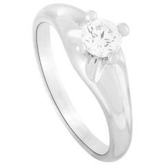 Bvlgari Platinum 0.35 Carat Diamond Engagement Ring