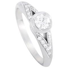Bvlgari Platinum 0.36 Carat Diamond Engagement Ring