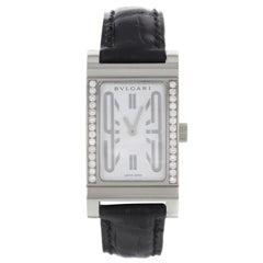 Bvlgari Rettangolo G Original Diamonds White Dial Quartz Ladies Watch RT W39