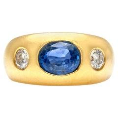 Bvlgari Sapphire and Diamond Ring