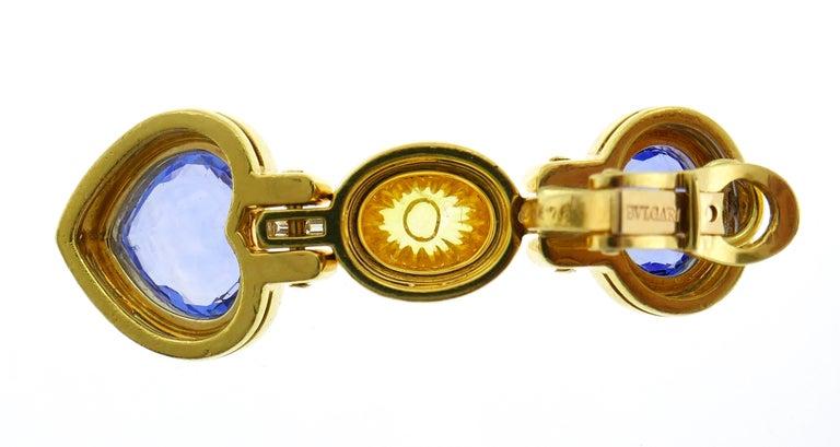 Bvlgari Sapphire Diamond Gold Earrings For Sale 2