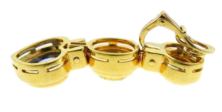 Bvlgari Sapphire Diamond Gold Earrings For Sale 3