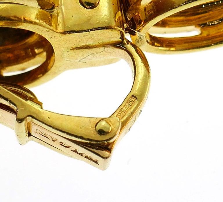 Bvlgari Sapphire Diamond Gold Earrings For Sale 4