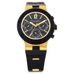 Bvlgari Scuba Diagono Chronograph 18 Karat Gold Case AC 38 G