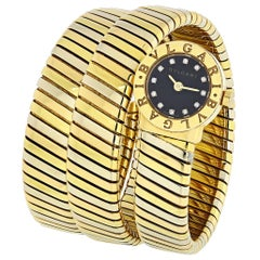 Bvlgari Serpenti 18 Karat Gold Diamond Dial Watch