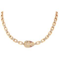 Bvlgari Serpenti 18 Karat Rose Gold 3.31 Carat Diamond Necklace