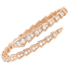 Bvlgari Serpenti 18K Rose Gold Diamond Bracelet