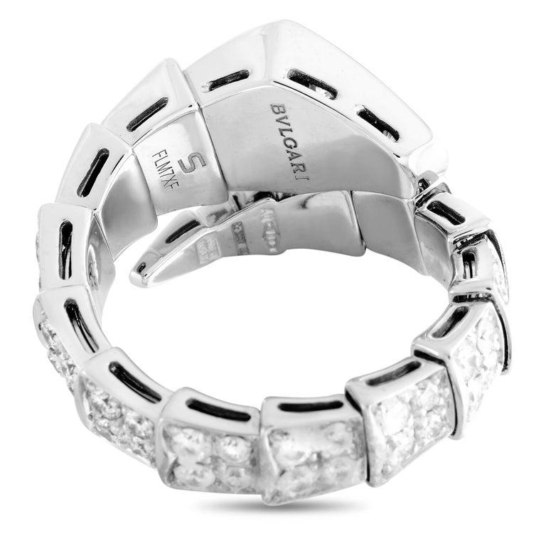 Women's Bvlgari Serpenti 18k White Gold Diamond Ring