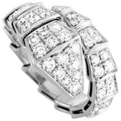 Bvlgari Serpenti 18k White Gold Diamond Ring
