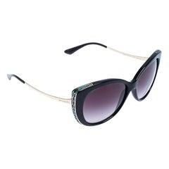 Bvlgari Serpenti Black/Grey Gradient 8178 Cateye Sunglasses
