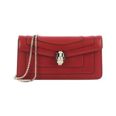 Bvlgari Serpenti Forever Chain Clutch Leather,