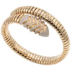 Bvlgari, Serpenti Rose Gold and Diamond Snake Bracelet