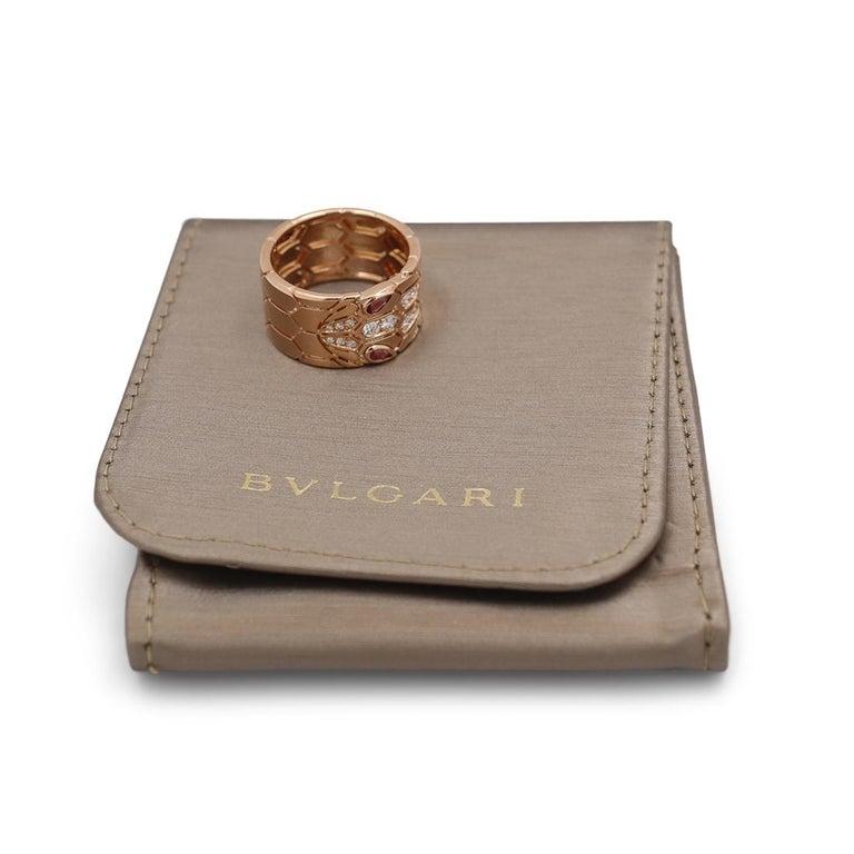 Bvlgari 'Serpenti Seduttori' Rose Gold Diamond and Rubellite Ring 3