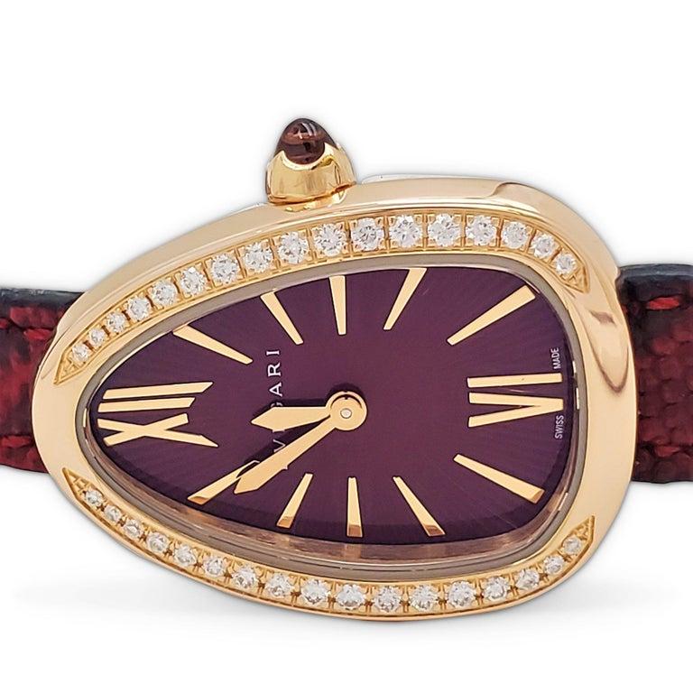 Bvlgari Serpenti Skin Watch For Sale 1