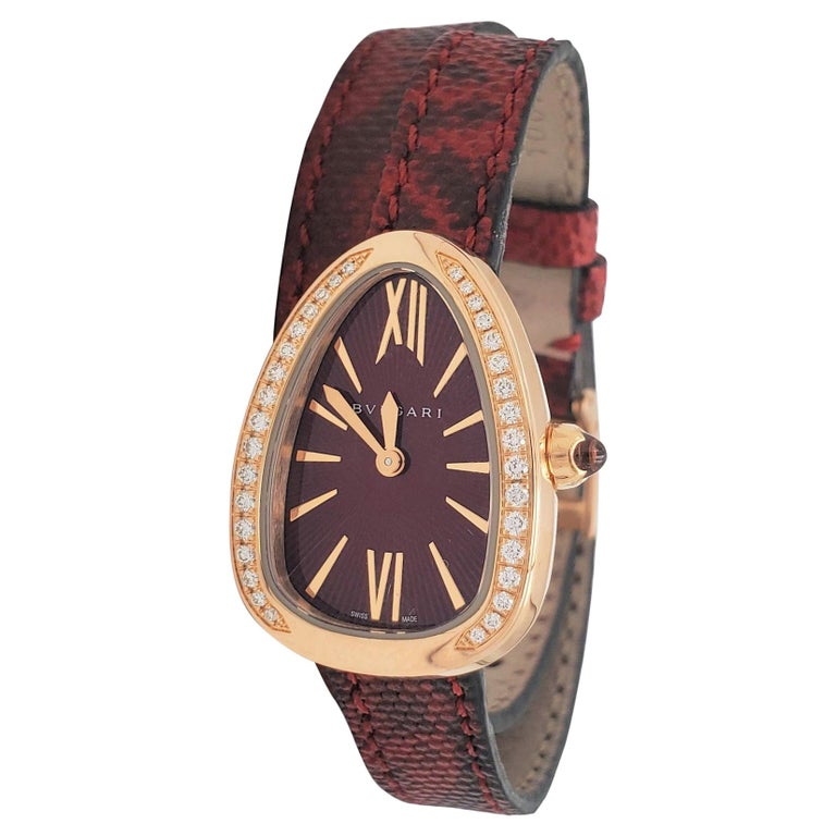 Bvlgari Serpenti Skin Watch For Sale