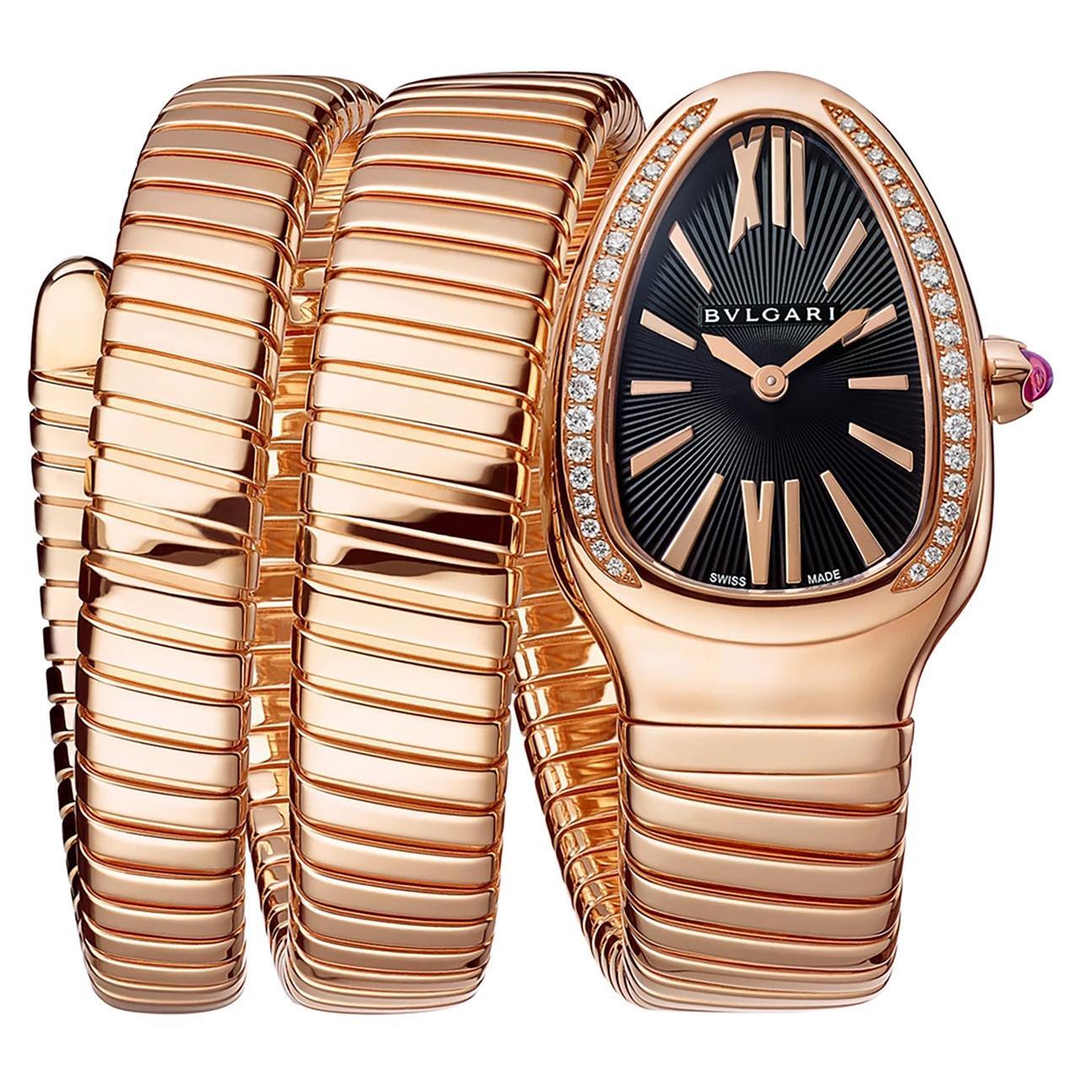 Bvlgari Serpenti Tubogas Rose Gold Watch