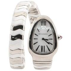 Bvlgari Serpenti Tubogas Single Spiral Quartz Watch Stainless Steel and Ceramic