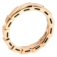 Bvlgari Serpenti Viper 18K Rose Gold Wedding Band Ring Size 50