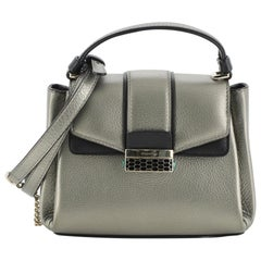 Bvlgari Serpenti Viper Top Handle Bag Leather Mini
