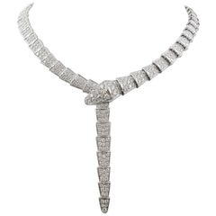 Bvlgari 'Serpenti Viper' White Gold and Diamond Necklace
