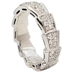 Bvlgari 'Serpenti Viper' White Gold and Diamond Pavé Ring