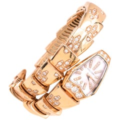 Bulgari Serpenti Wristwatch Mother of Pearl and Diamond