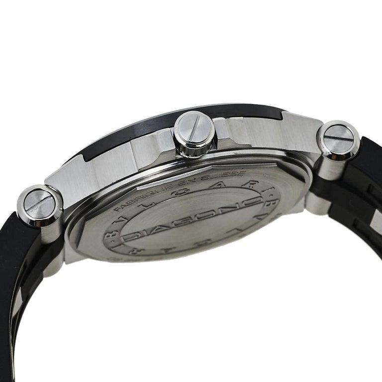 Bvlgari Silver Ceramic Diagono 102252 Automatic Men's Wristwatch 42 mm For Sale 3