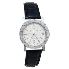 Bvlgari Silver Stainless Steel Bvlgari  Automatic Women's Wristwatch 33 mm