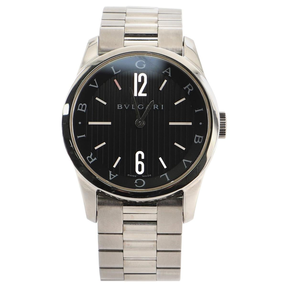 Bvlgari Solotempo Quartz Watch Stainless Steel 37