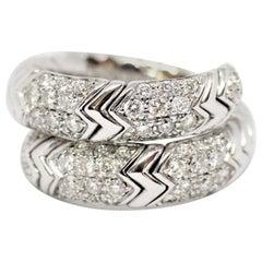 Bvlgari Spiga 18 Carat white Gold Ring