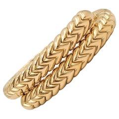 Bvlgari 'Spiga' Yellow Gold Flexible Wrap Bracelet