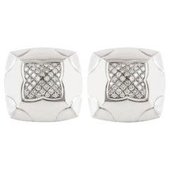 Bvlgari Square Diamond Earrings